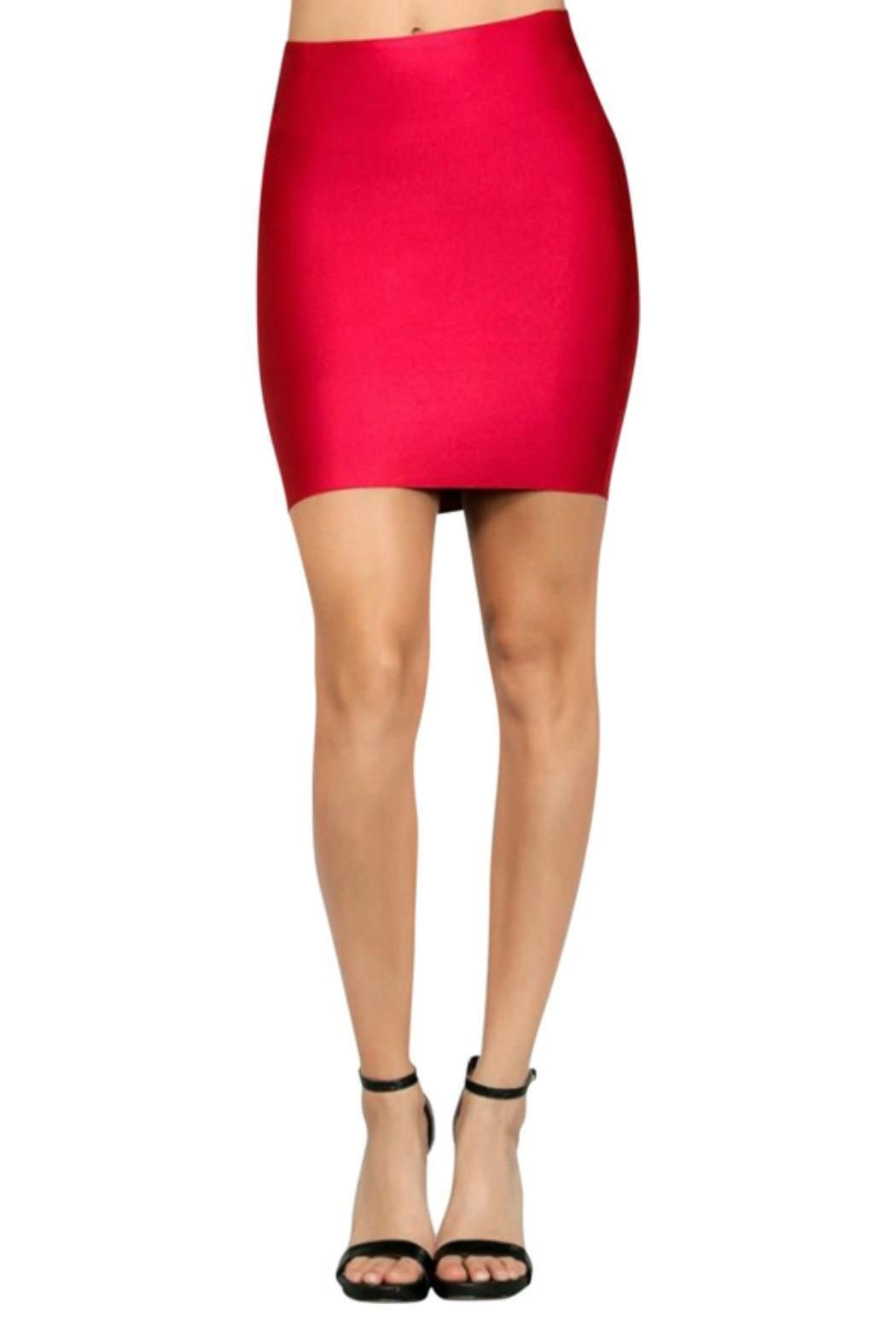 Ruby bandage bodycon mini pencil skirt. Features thick luxe fabric with a sateen finish. Rock this sexy mini with a strappy black bodysuit and black heels!   Ruby Bandage Mini Skirt by BRANDED. Clothing - Skirts San Diego, California