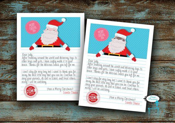 Letter Size Note From Santa  X  Custom Letter From Santa