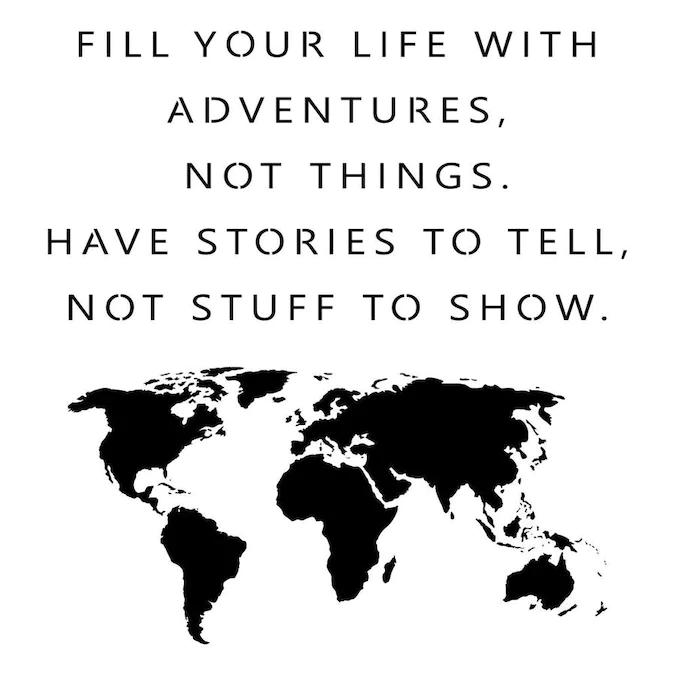 Designer Stencils Adventure Quote and Map Stencil Lowes.com