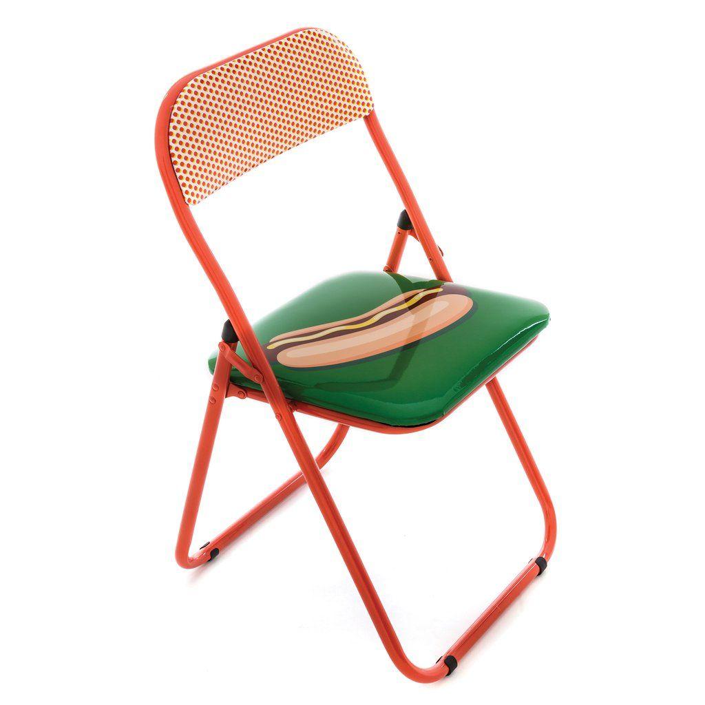 Seletti Blow Hot Dog Folding Chair Klappstuhl Stuhl Design Stuhle
