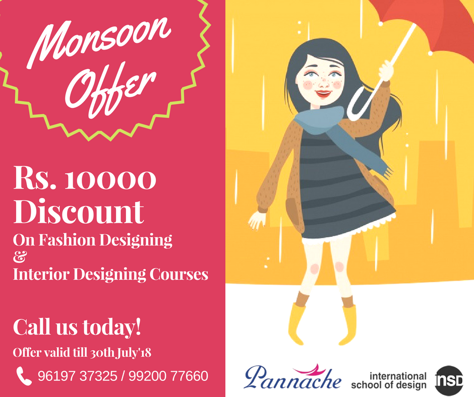 Time To Make Your Designing Career A Reality Call Us Today To Avail Monsoon Offer Pannac Fashion Designing Institute Fashion Designing Course School Design