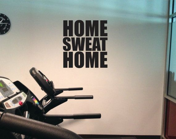 Gym decal home sweat vinyl work out wall by