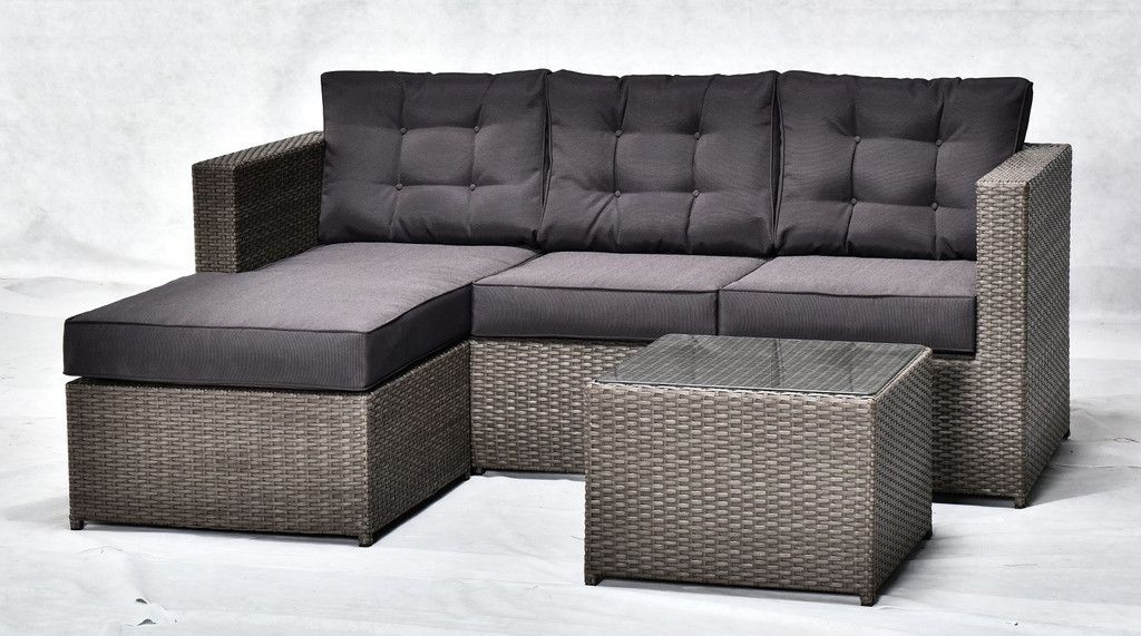 Orlando Outdoor 3 Piece Sofa Set L Sofa Set Wicker Sofa Outdoor Sofa Set