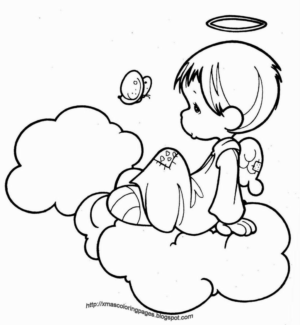 Coloring Angels Sketsa Pola Sulam