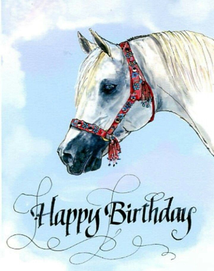 Pin By Tinka Wilson On Quotes Happy Birthday Horse Happy Birthday Art Happy Birthday Cards
