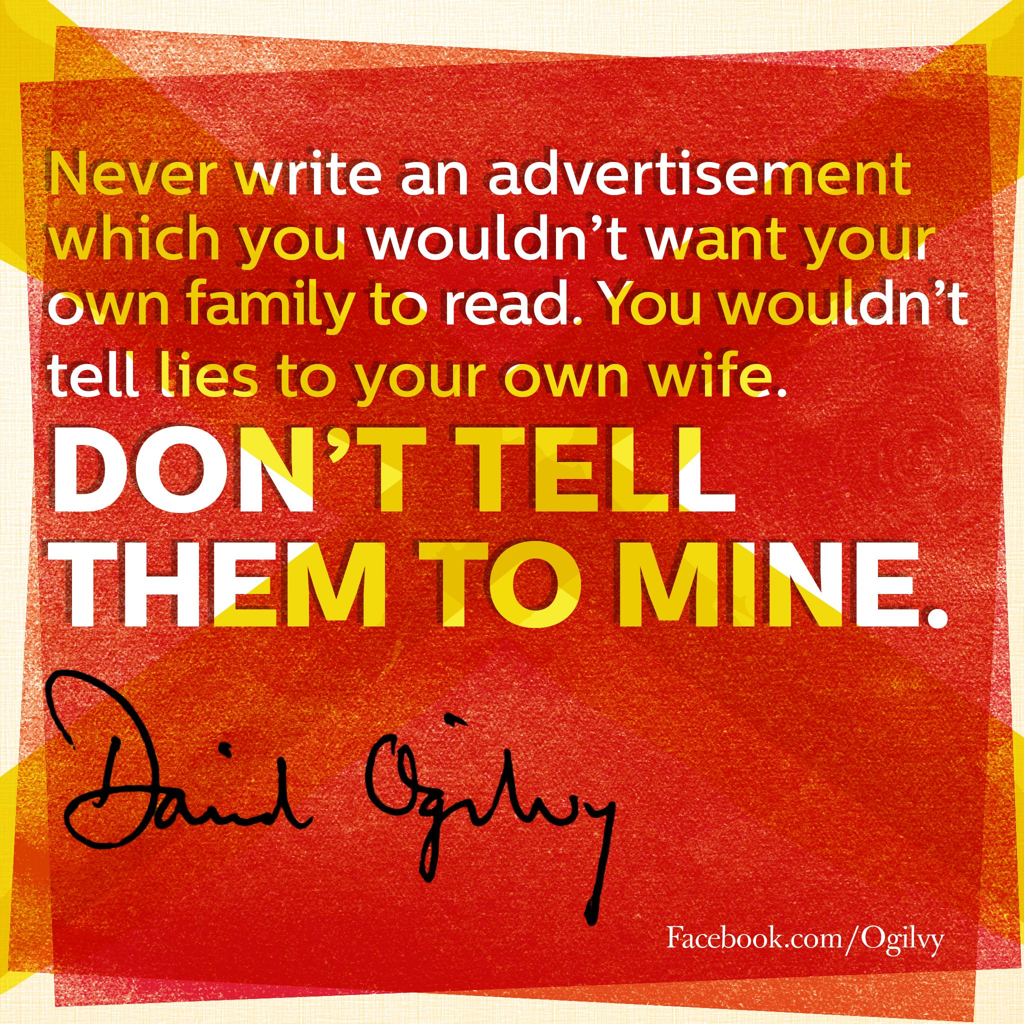 David Ogilvy Quotes Davidogilvy Quote  Stuff To Try  Pinterest  Work Quotes