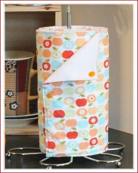 essuie tout lavable mamz 39 elle parisette pommescb3 couture maison d co accessoires. Black Bedroom Furniture Sets. Home Design Ideas