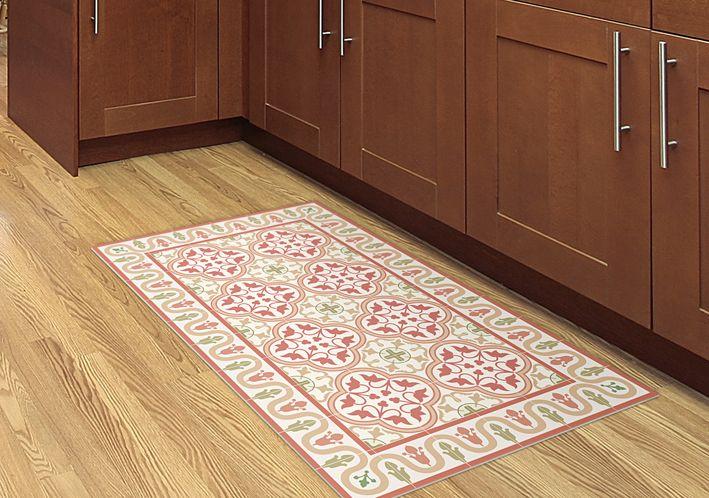 Kitchen Tug Printed On Linoleum Mat Easy To Clean Clean Kitchen Floor Kitchen Flooring Flooring