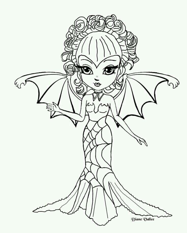 Jade dragonne | Cute coloring pages, Fairy coloring pages ...