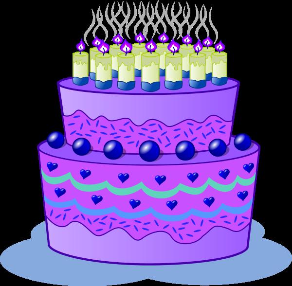 Purple Birthday Cake Backgrounds Clipart Images Etc Pinterest