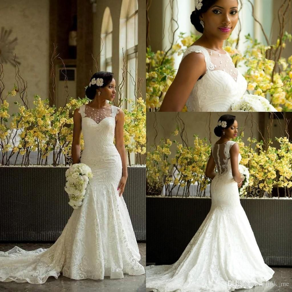 Cheap luxury african mermaid wedding dresses 2016 amazing sheer cheap luxury african mermaid wedding dresses 2016 amazing sheer jewel neck back covered buttons bridal gowns chapel train lace wedding dress as low as ombrellifo Image collections