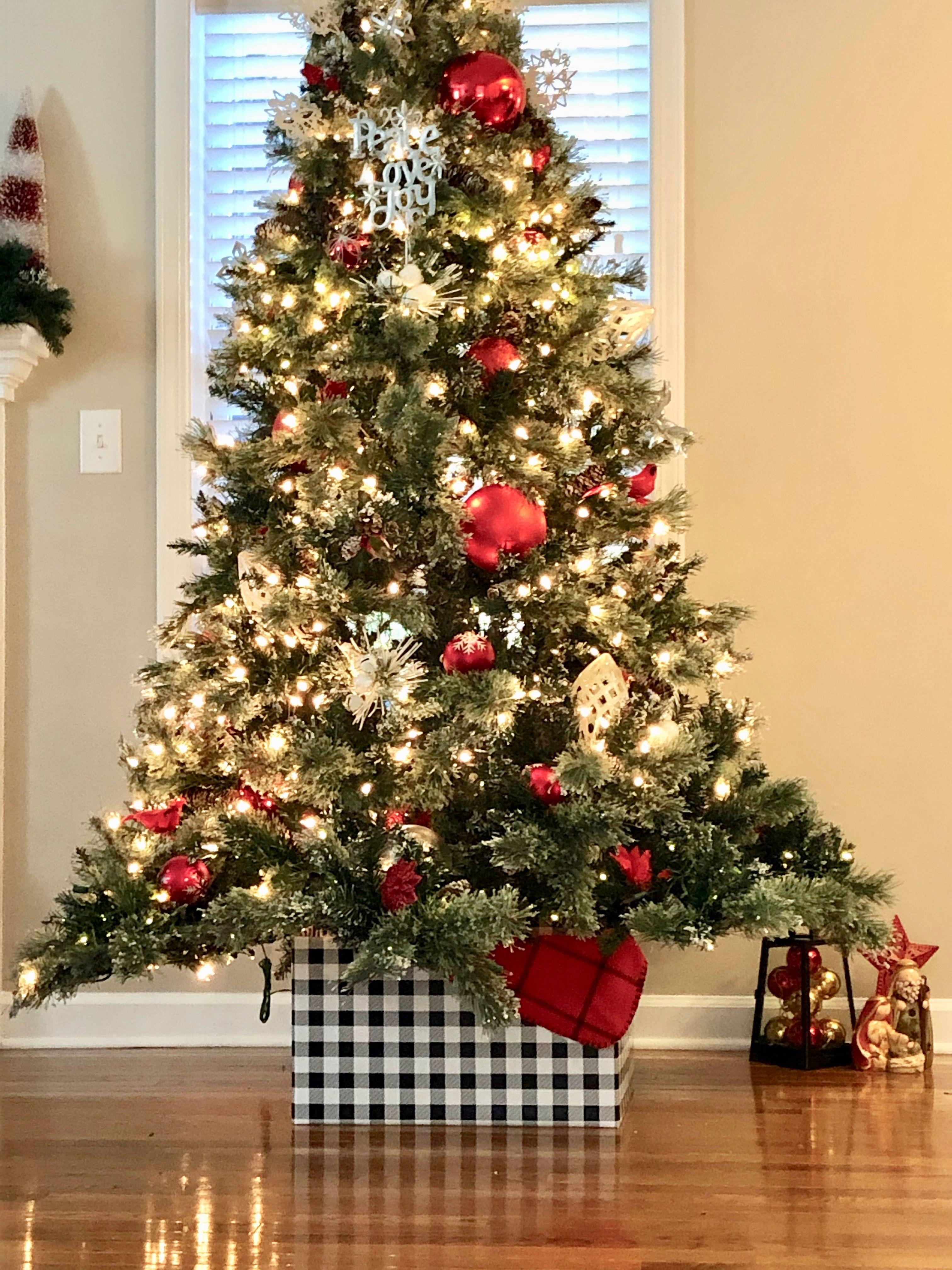 Christmas Tree Collar Cardboard Box Diy Christmas Decorations Tree Collar Christmas Tree