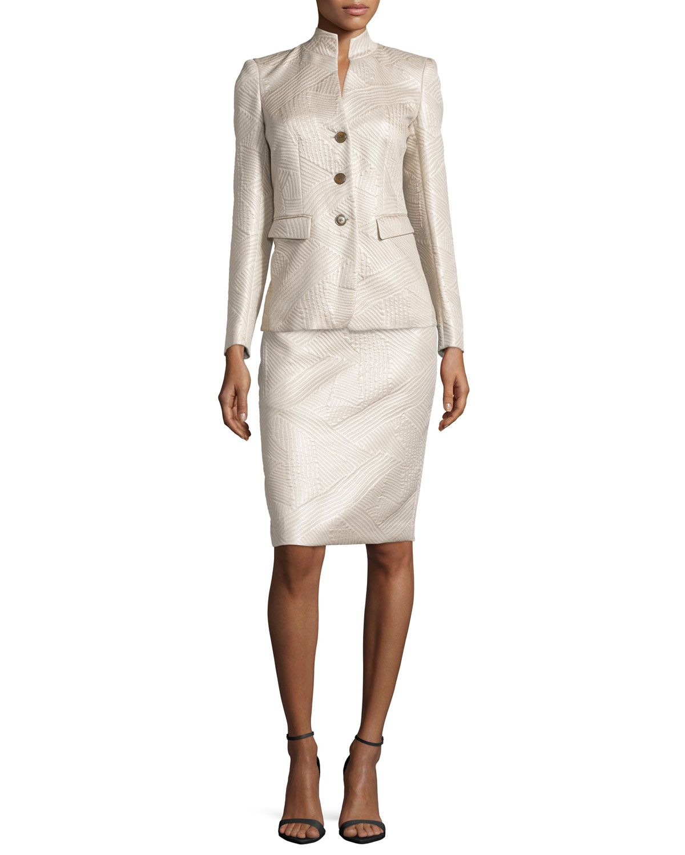 Lafayette 148 New York Modern Slim-Fit Skirt, Oatmeal, Women's ...