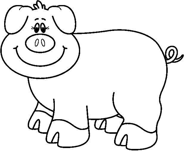 Dibujos Y Plantillas Para Imprimir Cerditos Animalitos