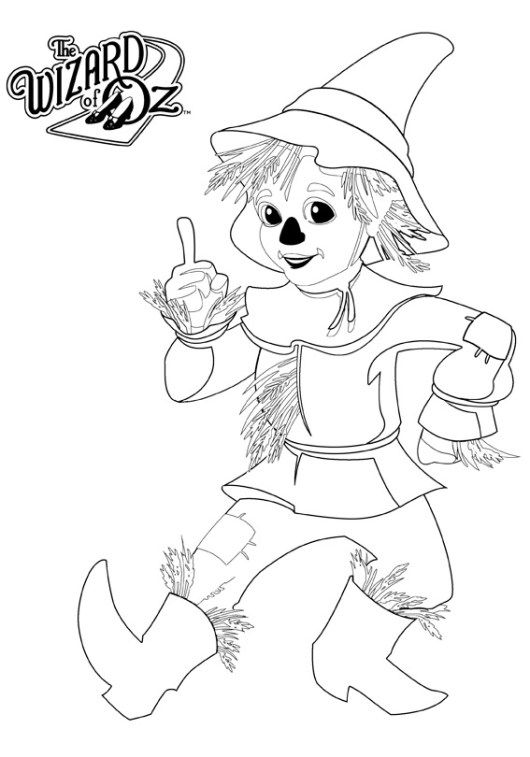 Wizard Of Oz Munchkin Coloring Page For Boys And Girls