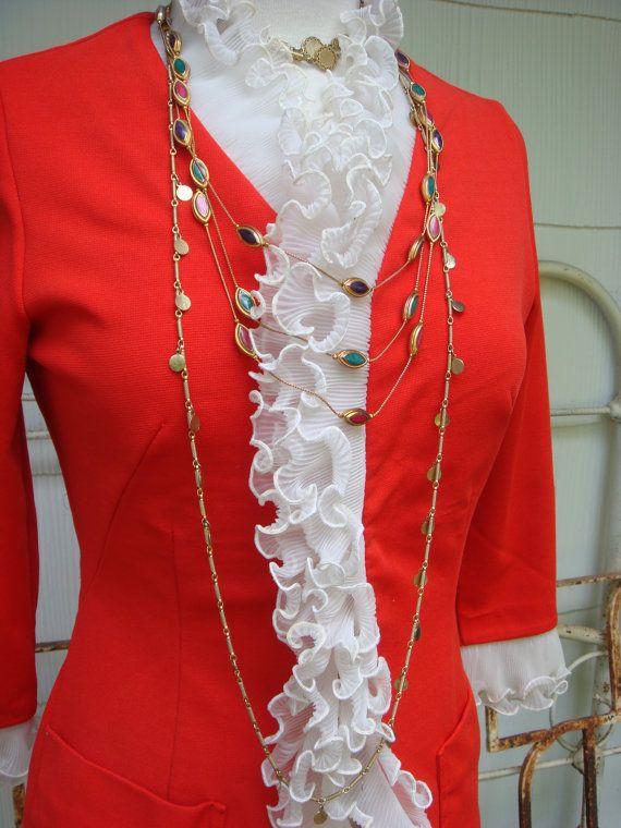 Vintage Jacket Mod Coat Mod 1960s Goldie Hawn Orange Jacket Coat Ruffle Coat Boho Winter