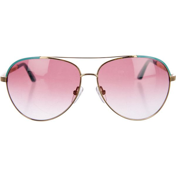 dbb4e5ae96667 Pre-owned Minnie Rose Tinted Aviator Sunglasses ( 85) ❤ liked on Polyvore  featuring accessories