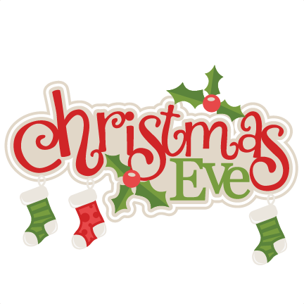christmas eve title with stockings svg scrapbook cut file cute rh pinterest ie scrapbooking clip art free scrapbooking clipart