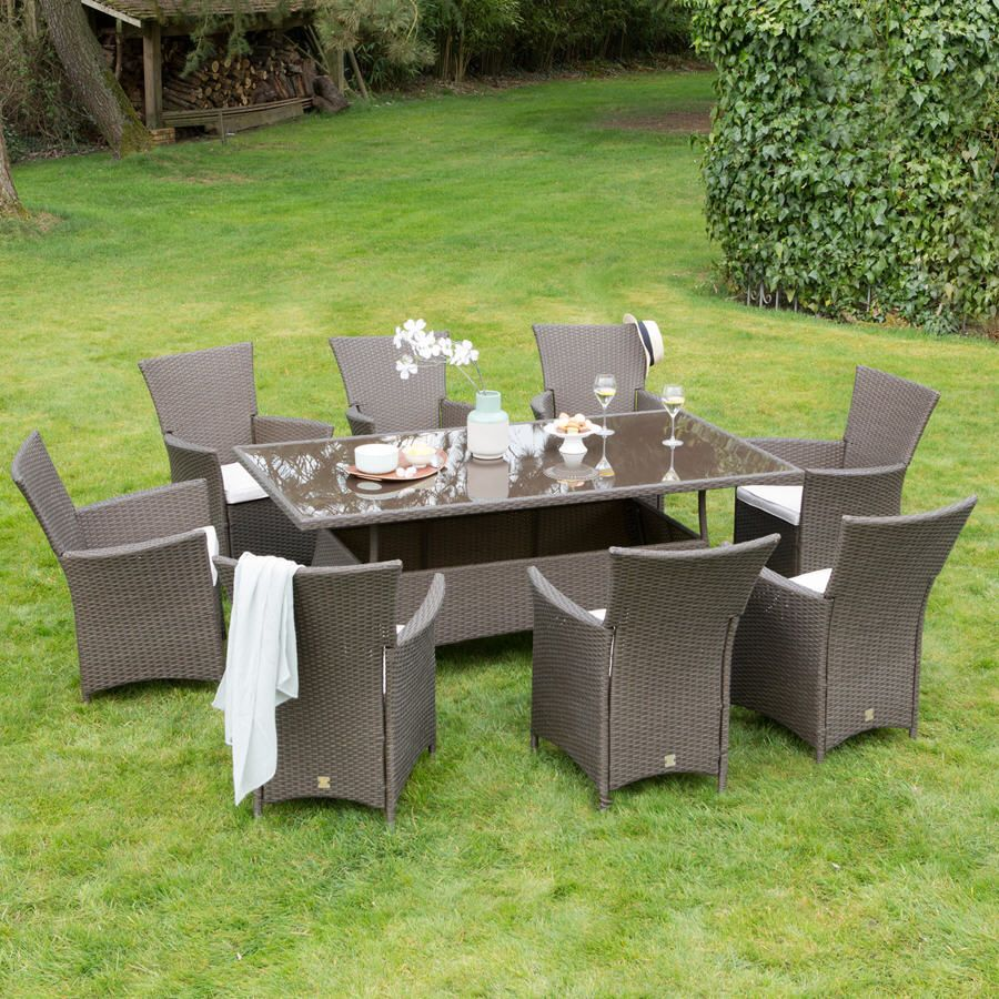 Salon De Jardin Resine En Solde Salon De Jardin 8 Places Furlano Greenpath Soldes Outdoor