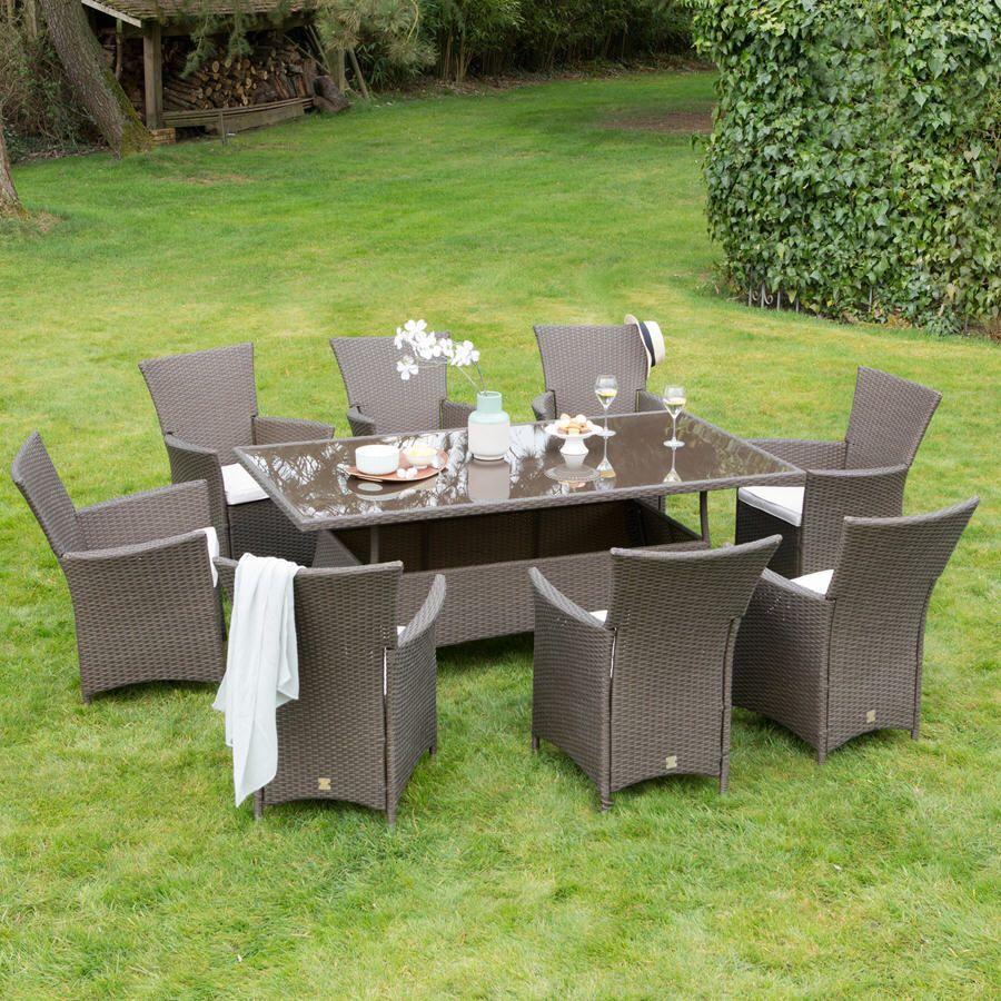 Salon de jardin 8 places FURLANO GreenPath | Soldes | Outdoor ...