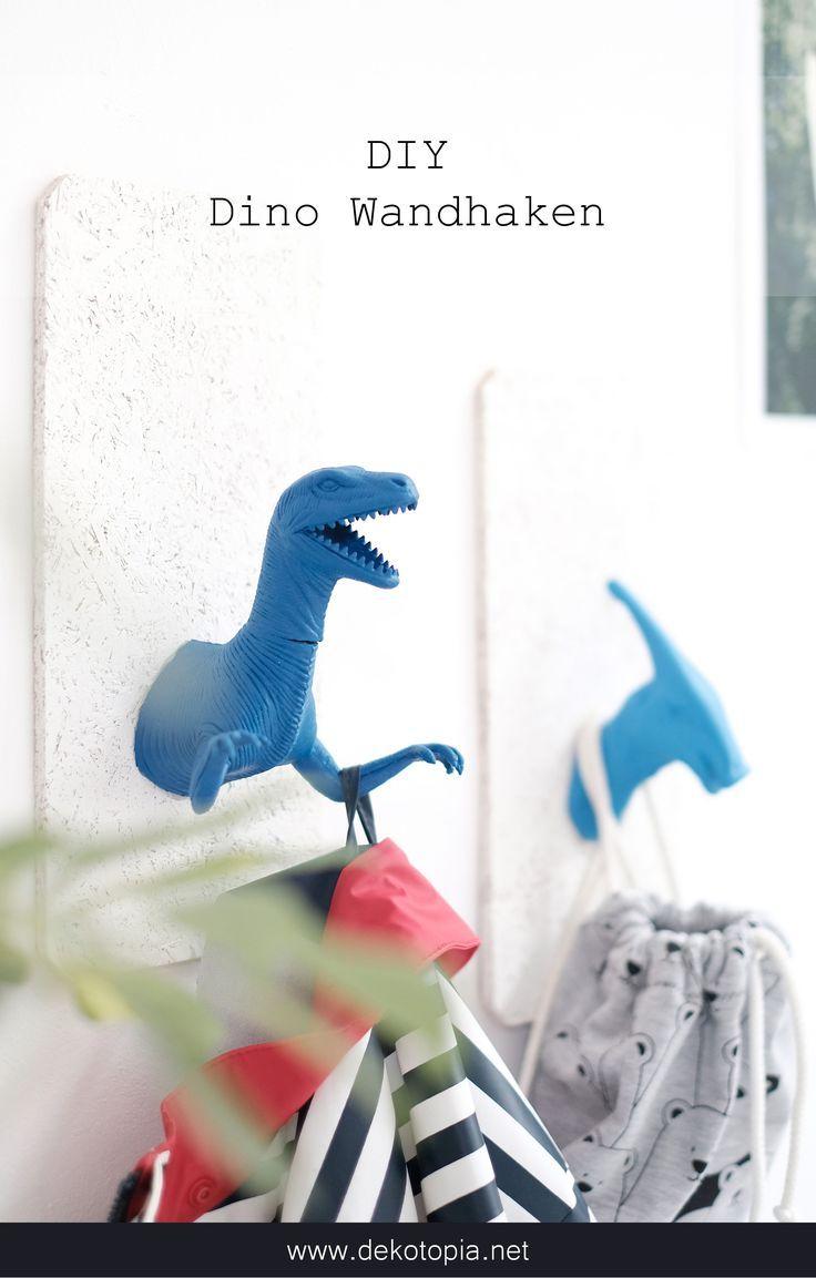 Dino Wandhaken selber machen dekotopiaDino Wandhaken