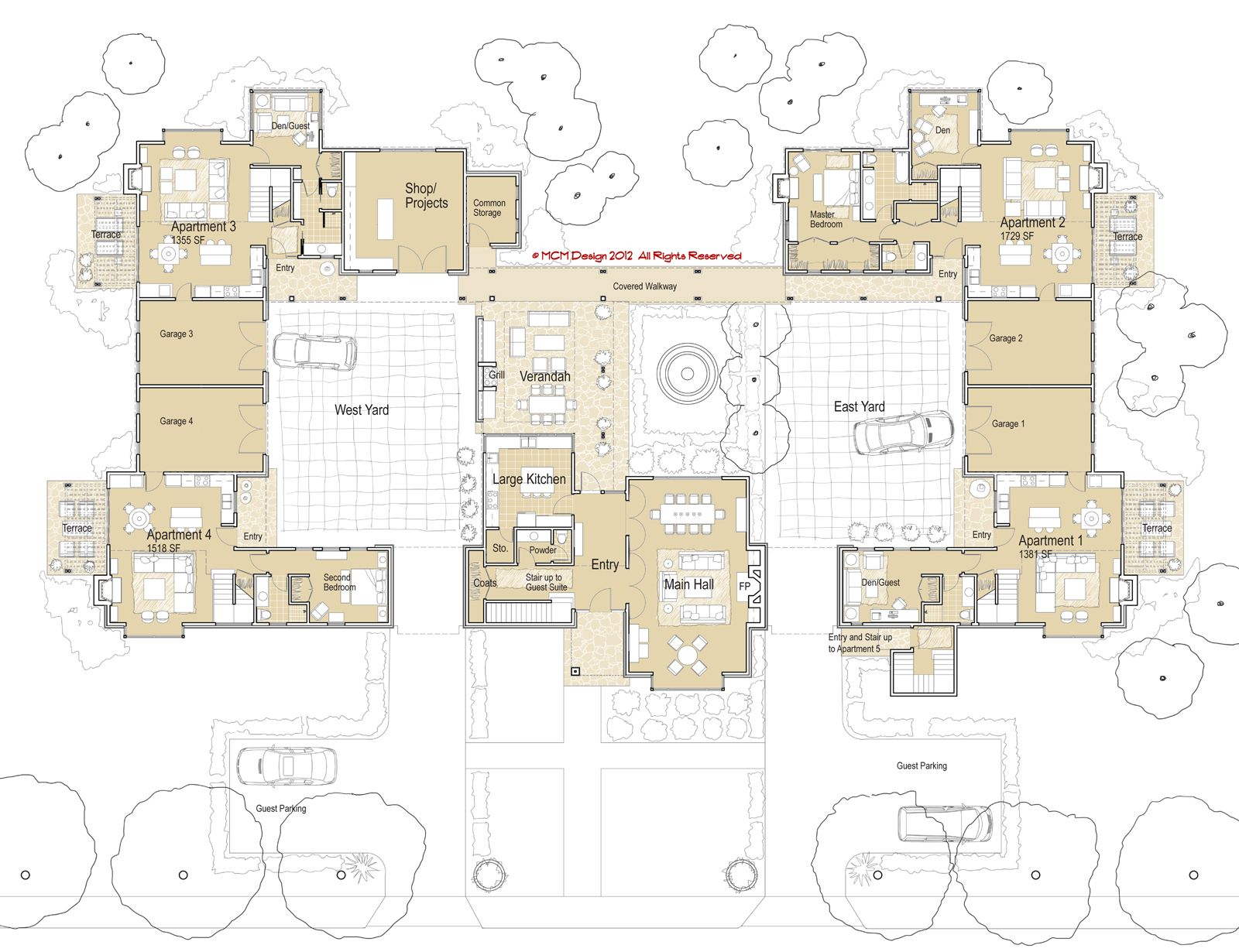 ground floor plan second floor plan co housing manor is a