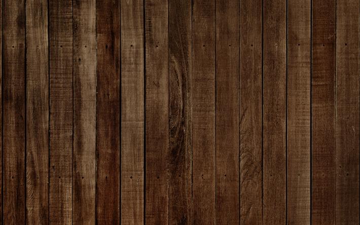 Download wallpapers wooden texture, 4k, brown wood, boards