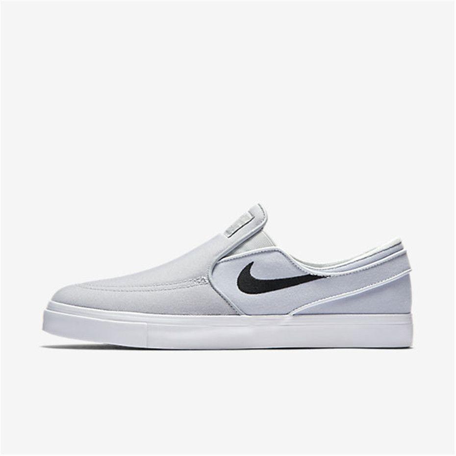 5821de06a89091 Nike SB Zoom Stefan Janoski Slip-On Canvas (Wolf Grey   Pure Platinum    Black)