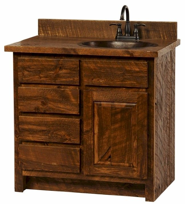 Good Rustic Bathroom Vanity Stores From Pine