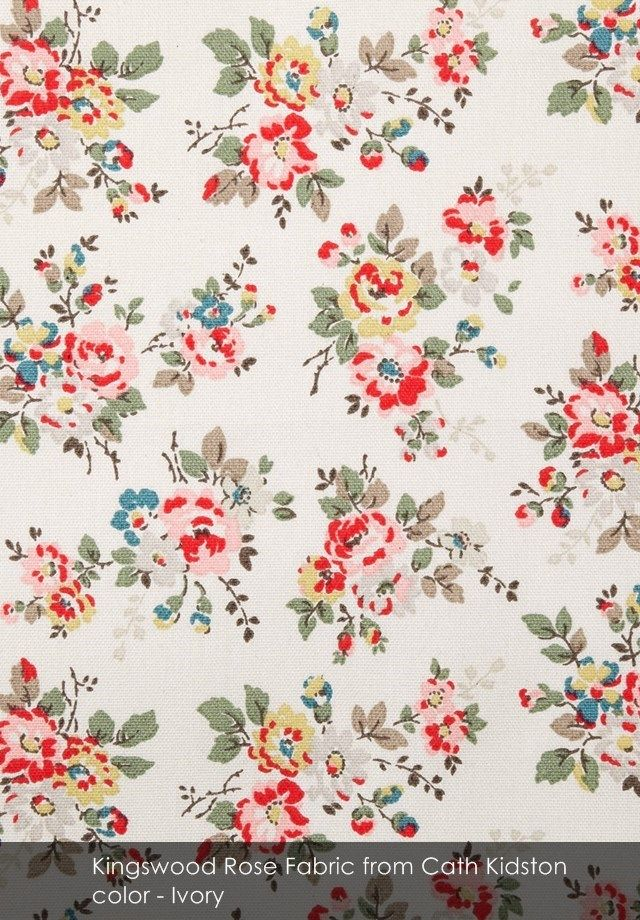 Kingswood Rose Fabric From Cath Kidston In Ivory Fabric