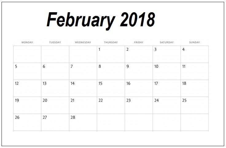 february 2018 personalized calendar download calendar designs