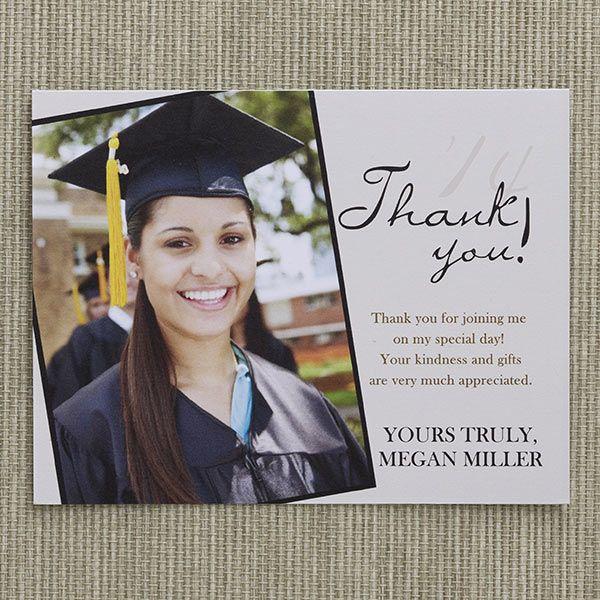 12963 - Refined Graduate Custom Thank You Cards | Graduation party ...