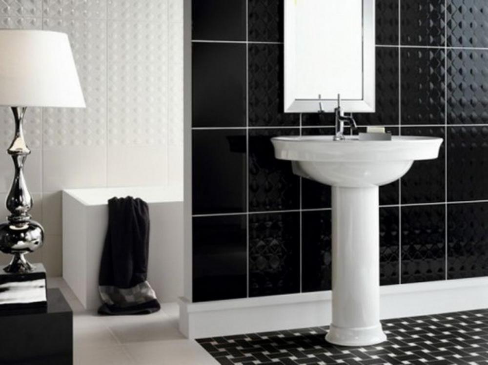 Bathroom Design Trends And Ideas For Inspirationseek Black Tile Cool Bathroom Design Trends Design Inspiration