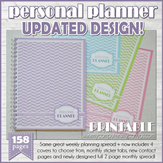 AMAZING Printable Personal Monthly/Weekly Planner love the