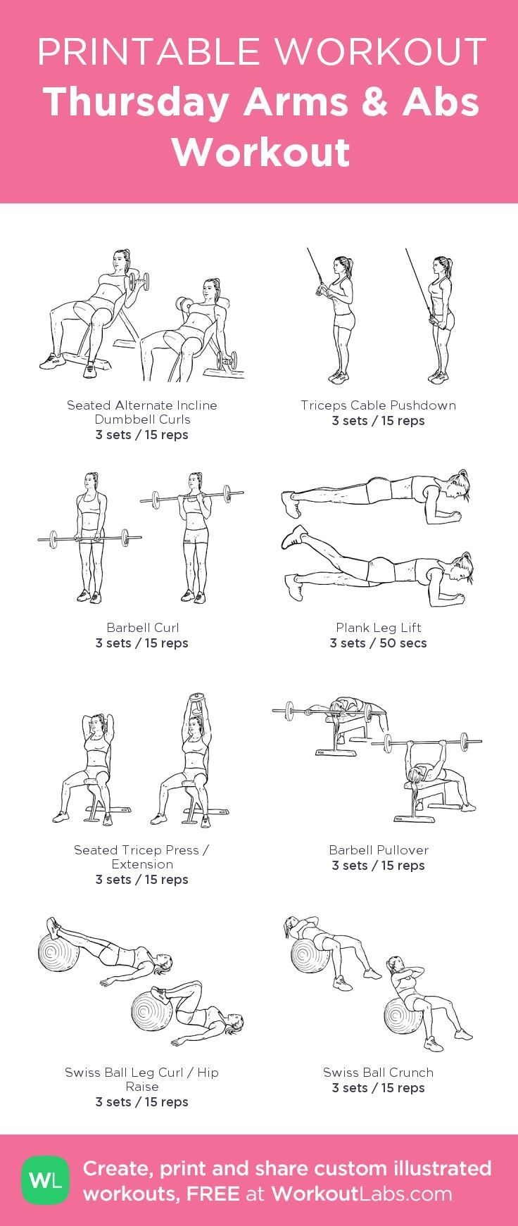 Arms and abs workout | Arms, abs, Printable workouts, Gym ...