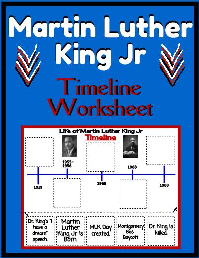 Martin Luther King Jr Timeline Worksheet Martin Luther King Jr