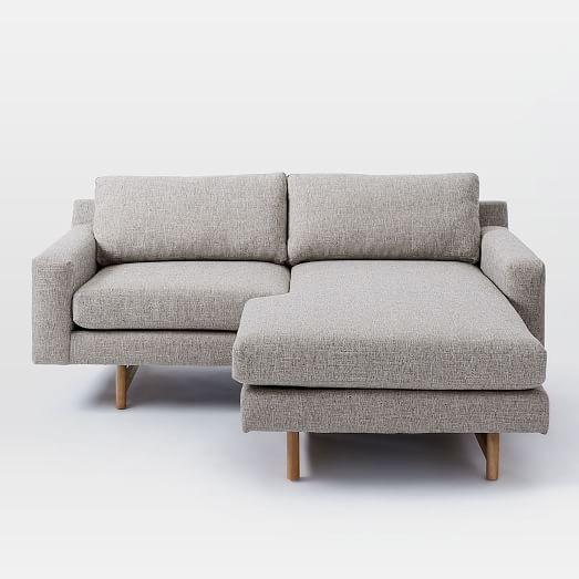 Eddy Sectional Westelm Sofas For Small Spaces Small Couch In Bedroom Small Sectional Sofa