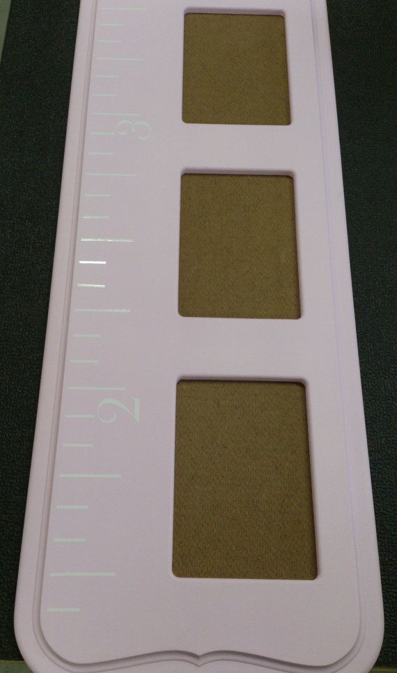 Growth Chart Ruler And Picture Frame Pink By Fonsecawoodworks