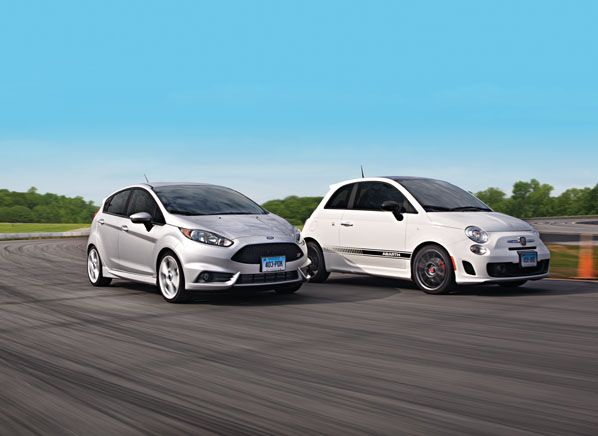 Ford Fiesta Vs Fiat 500 Abarth Road Test Review Fiat 500 Ford