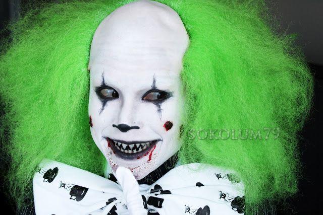 Halloween Evil Clown Makeup...sure Wish I Had Creepy Teeth