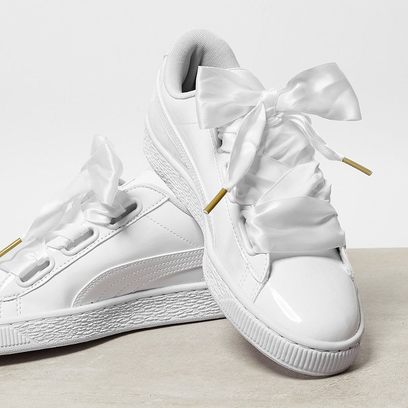 puma basket heart patent sneaker low