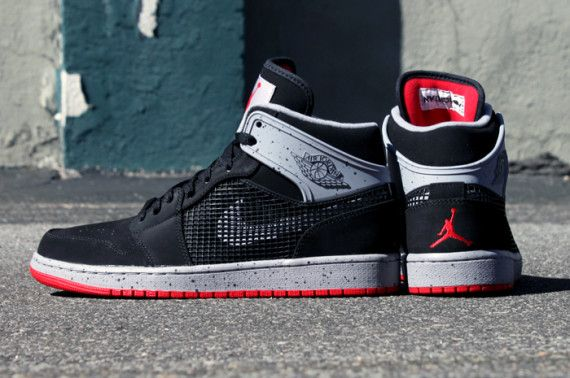 1d8337e7855 Air Jordan 1 Retro  89 - Black Fire Red-Cement Grey