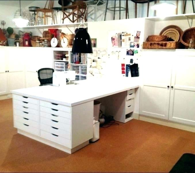 Large Craft Table Diy Large Craft Table Tables With Storage