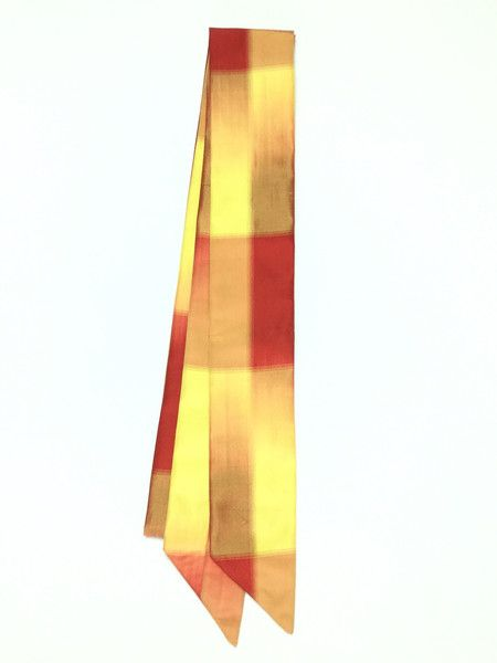 【Ribbon Scarf Orange,Red,Yellow Pattern  | #MegumiProject】