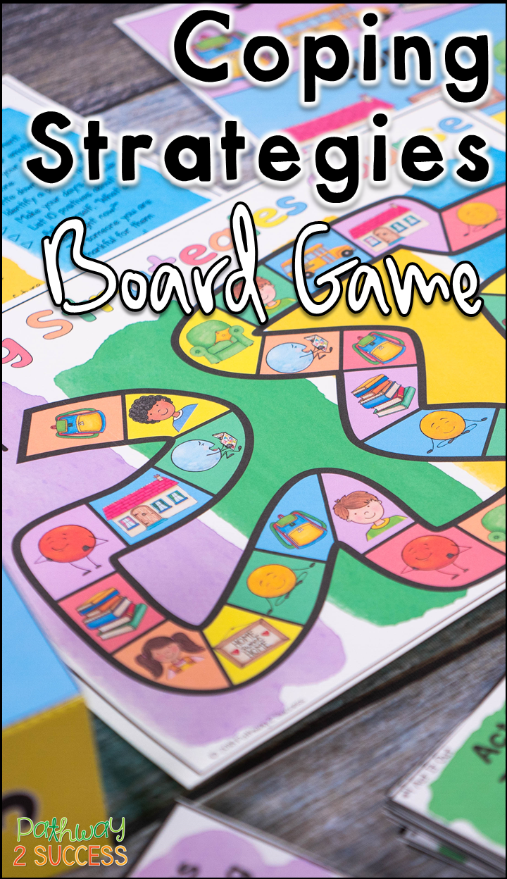 Coping Strategies Board Game Digital Print Sel Skills Distance Learning Child Life Specialist Coping Strategies Strategy Board Games