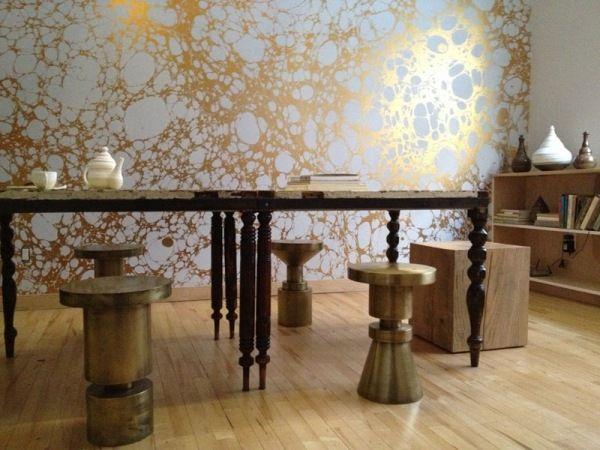 deavita schlafzimmer ideen-attraktive-wandgestaltung - stein tapete wohnzimmer ideen