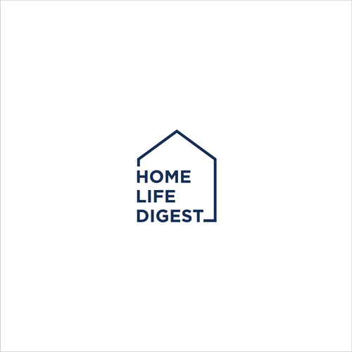 Home Life Digest Logo Logo Design Contest Ad Design Sponsored Logo Contest Picked Winnin Typographic Logo Design Property Logo Design Architect Logo
