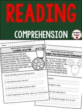close reading comprehension printable worksheets holiday