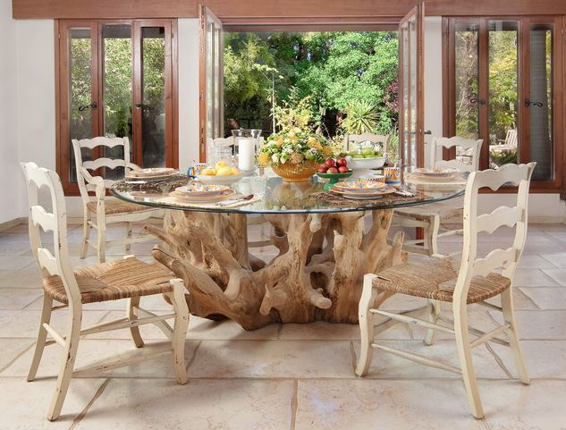 Eye Catching Table Base With A Round Glass Top Dining Table Design Glass Top Dining Table Glass Dining Room Table