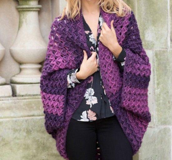 Crochet Cocoon Shrug Pattern - Lots Of Ideas | Crochet cocoon, Free ...